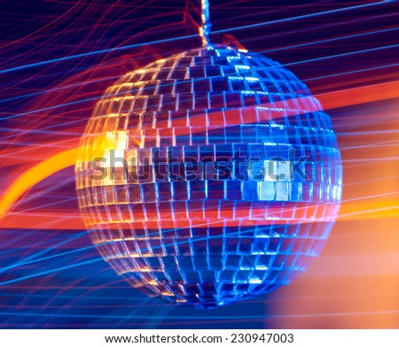 Disco ball light  background - stock photo