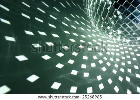 Disco ball with white illumination - stock photo