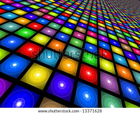 Disco Floor - stock photo