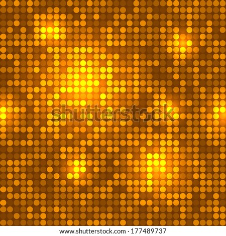 Disco golden background seamless pattern. - stock photo