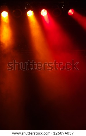 Disco lights at a big pop concert - stock photo