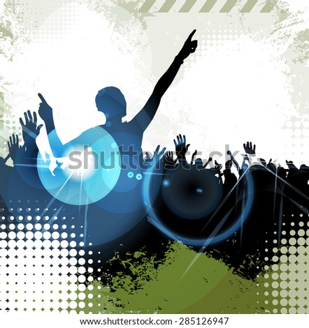 Disco party. Music event background - stock photo
