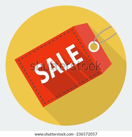 Discount label icon - stock photo