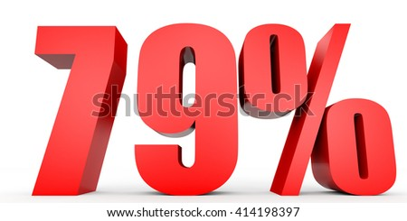 Discount 79 percent off. 3D illustration on white background. - stock photo