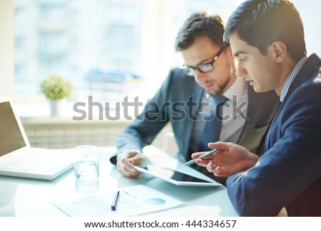 Discussion of data - stock photo