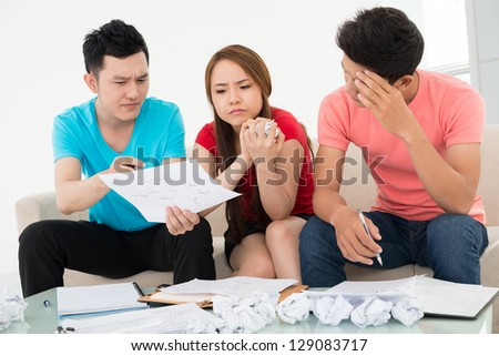 Discussion process of a plan - stock photo