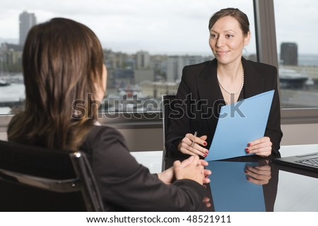discussion with the customer - stock photo
