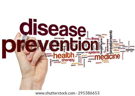Disease prevention word cloud concept - stock photo