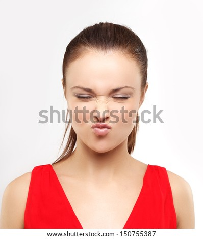 Disgust - stock photo