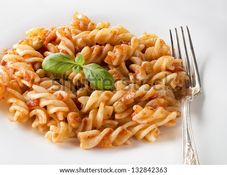 fusilli with fresh tomato fusilli with spicy tomato fusilli with