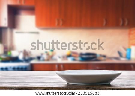 Dish on the kitchen table - stock photo