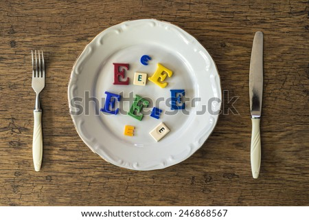 Dish with food additives  - stock photo
