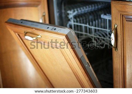Dishwasher concept Housewives - stock photo