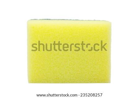 Dishwashing sponge on isolate background - stock photo