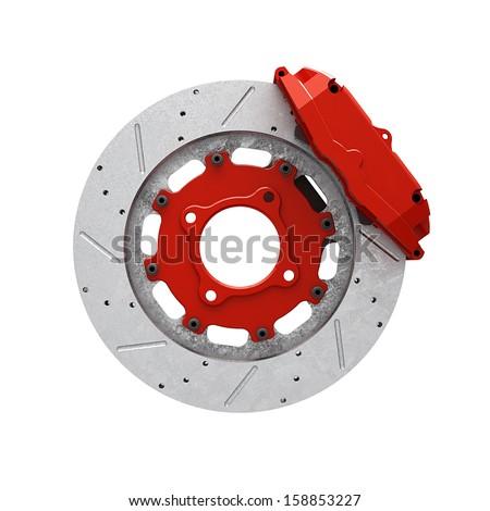 Disk brake - stock photo