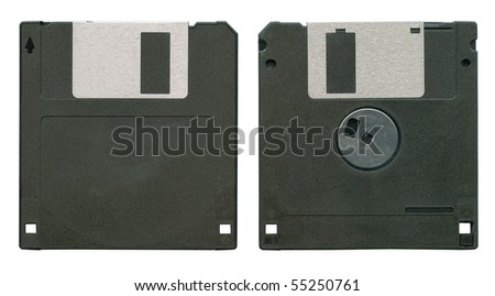 Diskette isolated on white background - stock photo
