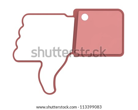 Dislike Icon. Thumb Up Sign for Blogs and Websites. - stock photo