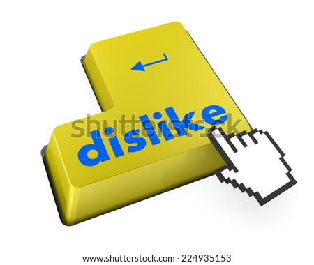 dislike key on keyboard for anti social media concepts facebook twitter like - stock photo