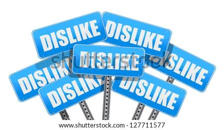dislike Social media networking concept illustration design over white - stock photo