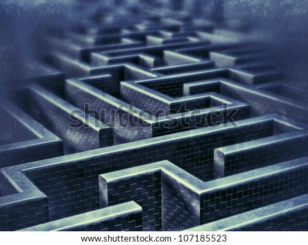 disorientated - stock photo