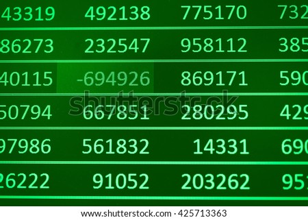 Display of Stock market quotes. Stock market chart. Business graph background. Digital Screen of Forex trading. - stock photo
