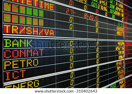 Display of Stock market quotes thailand - stock photo
