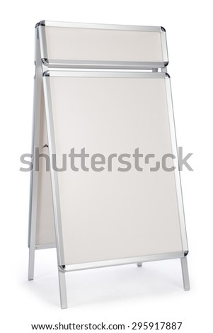 Display stand for placing images and texts - stock photo