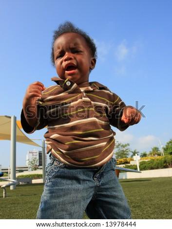 Displeased Baby - stock photo