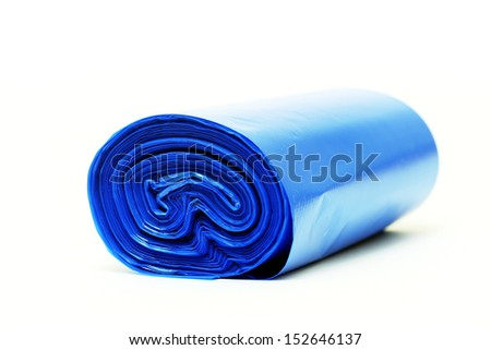 Disposable bags roll - stock photo