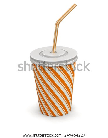 Disposable cup (clipping path included) - stock photo
