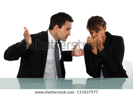 Disputes at work - stock photo