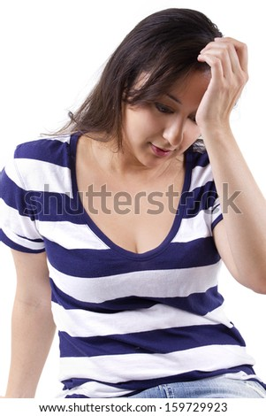 Dissapointed expression. - stock photo