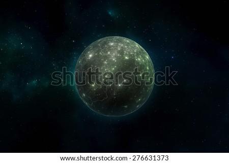 Distant alien world - stock photo