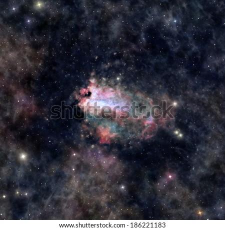 Distant space nebula - stock photo