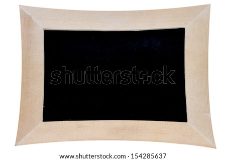 distorted blackboard on white background with clipping path - stock photo