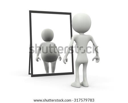 Distorting mirror - stock photo