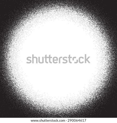 Distress Overlay texture. Corner vignette. Circle frame. - stock photo