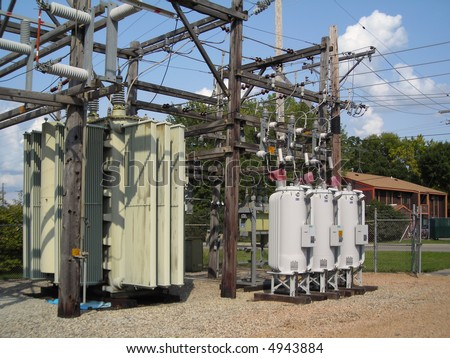 Voltage regulator stock photos images pictures for Distribution substation