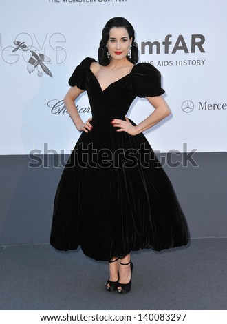 Dita Von Teese at amfAR's 20th Cinema Against AIDS Gala at the Hotel du Cap d'Antibes, France May 23, 2013  Antibes, France - stock photo