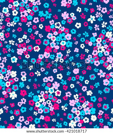ditsy flower pattern,spring summer time. holidays mood. gentle romantic childish print.  - stock photo
