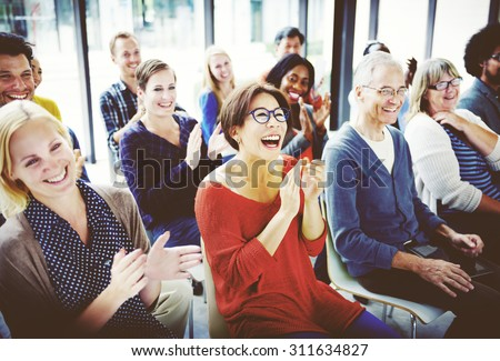 Diverse Business People Meeting Seminar Concept - stock photo