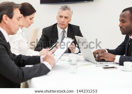 Diverse business team at work. - stock photo