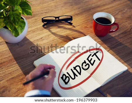 Diverse Businessman Brainstorming About Budget - stock photo