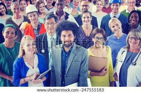 Diverse Diversity Ethnic Ethnicity Variation Colourful Concept - stock photo
