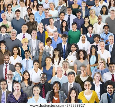 Diverse Diversity Multiethnic Cheerful Variation Concept - stock photo