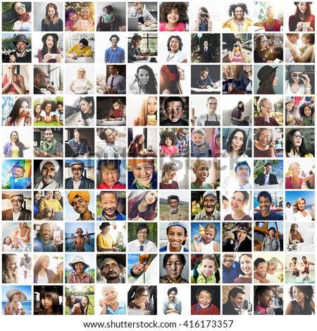 Diverse Ethnic Diversity Ethnicity Community Concept - stock photo
