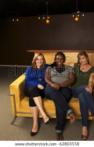 Diverse Group of Girlfriends Hanging Out - stock photo