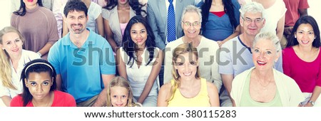 Diverse Group People Multiethnic Standing Concept - stock photo