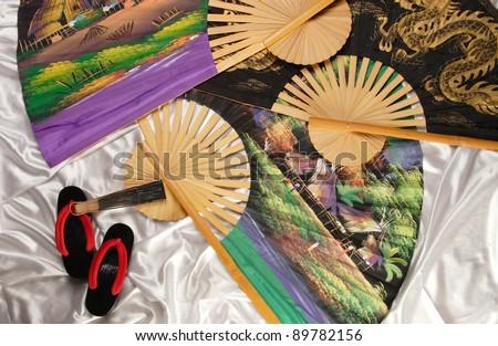 diverse, original souvenirs for advertising photography - stock photo