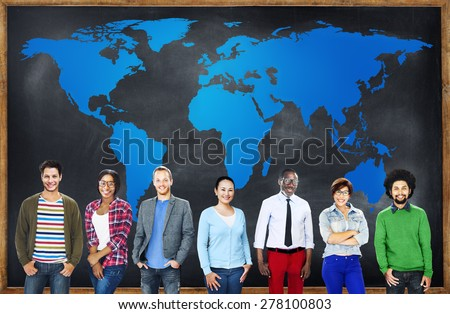 Diverse People Global International World Concept - stock photo